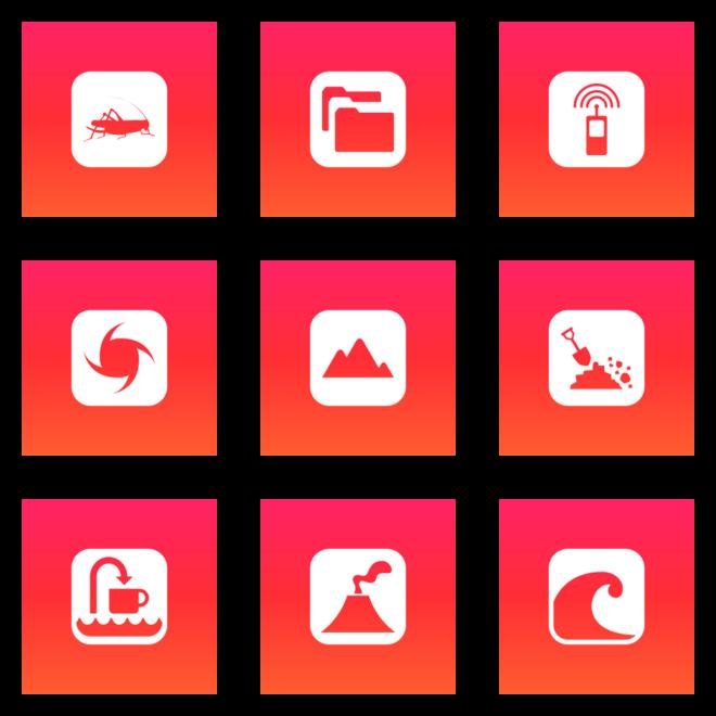 Browsing All Icon Sets Color Ios Orange Gradient Icon Icon Set All Icon