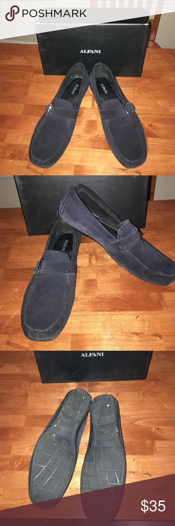 Men's Alfani shoes Blue suede-James Bit drivers Alfani shoes Alfani Shoes Loafers & Slip-Ons