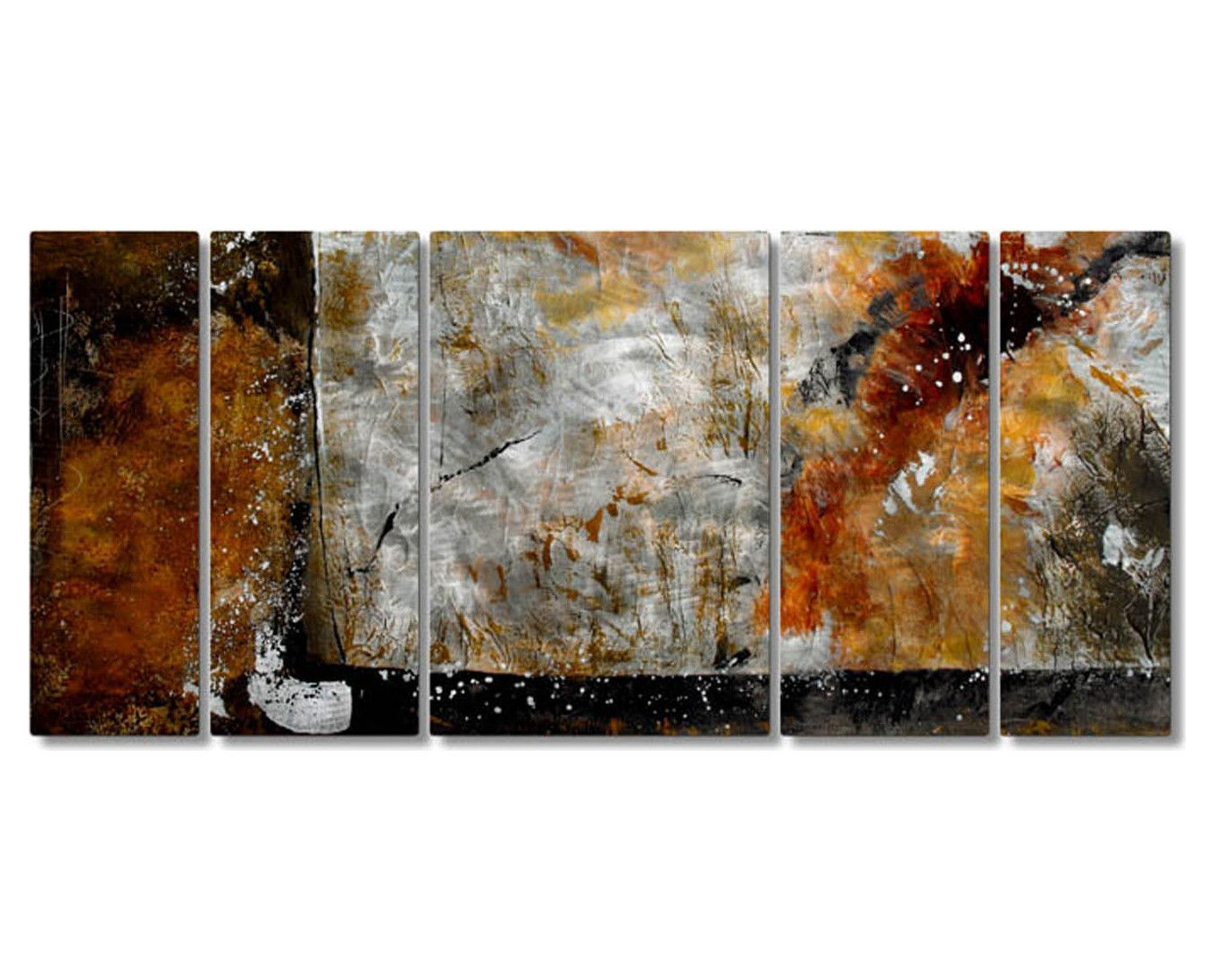 Simplicity of texture handcrafted metal wall art set of products