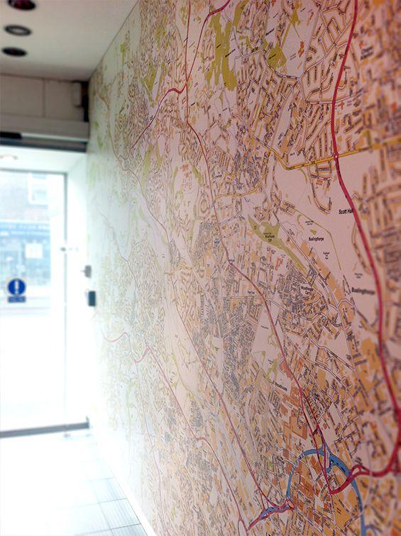 Custom Wall Map for Leeds Rentals - Showoff Media | Wall maps ...