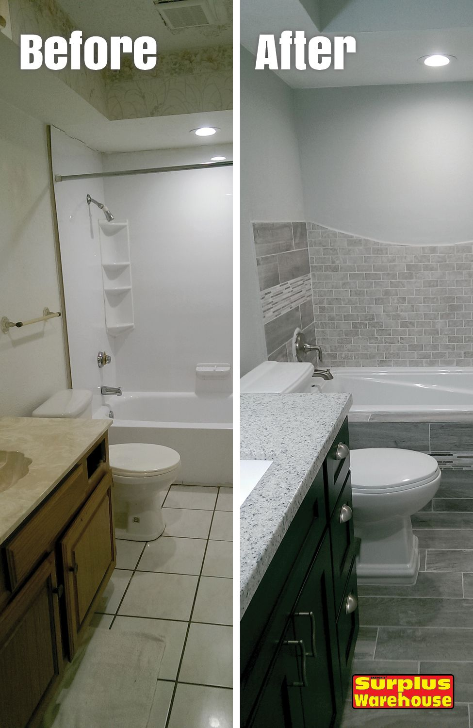 Bathroom Remodel By Dana M Mesquite Tx We Did A Through Surplus Warehouse And Couldn T Be More Pleased The Manager At