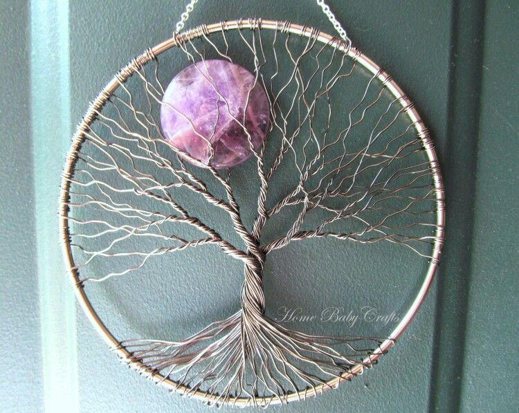 amethyst sun catcher tree of life arbre de vie arbres. Black Bedroom Furniture Sets. Home Design Ideas