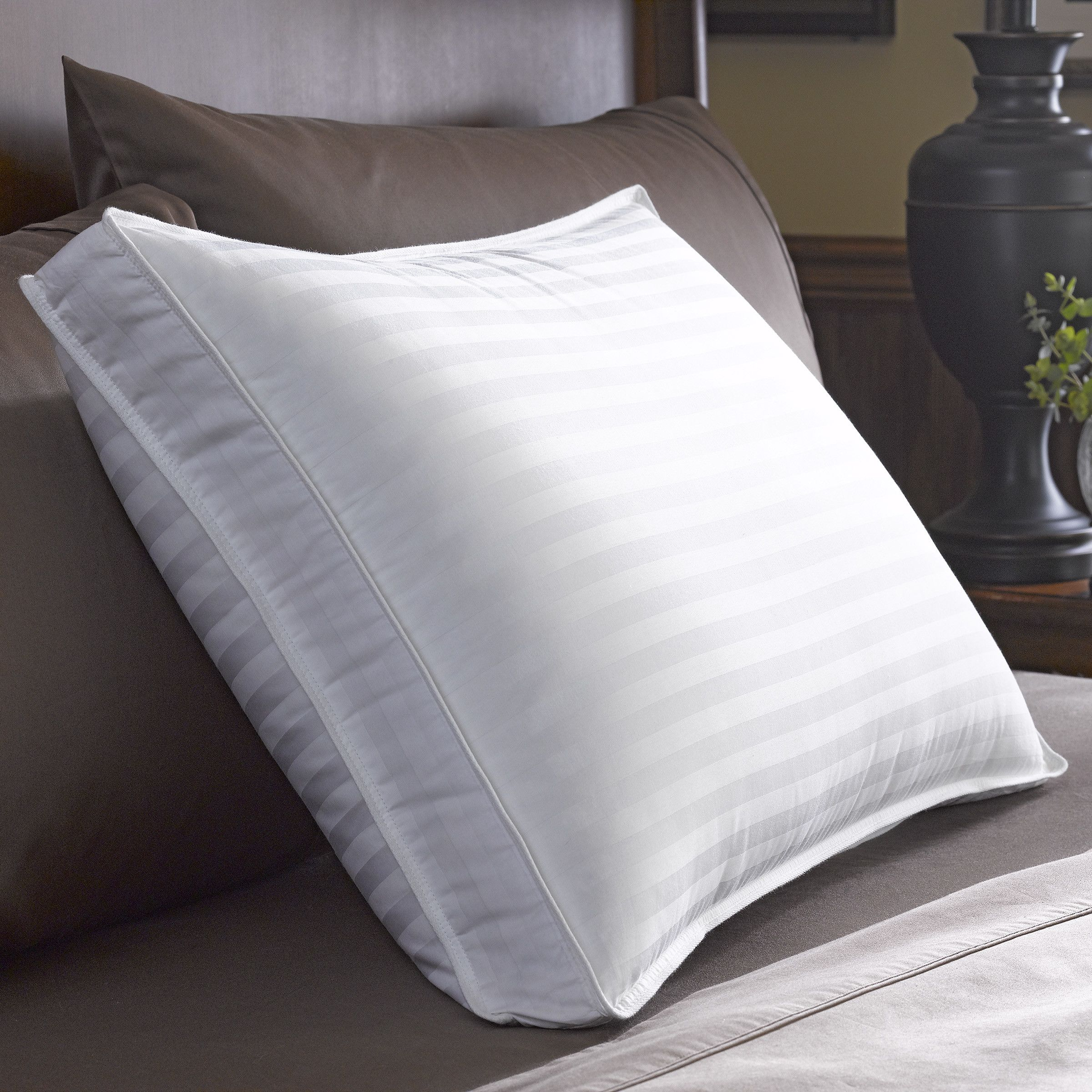 restful sleep pillow quilted feather and down pillow from bed bath