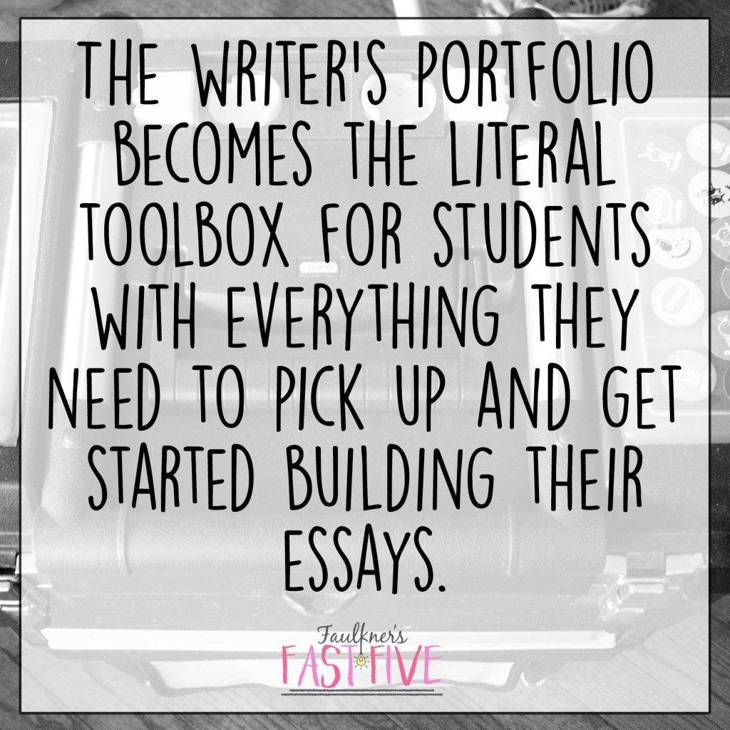 A Formula for Successful Writing Instruction Series: #2 The Old-Fashioned Writer's Portfolio