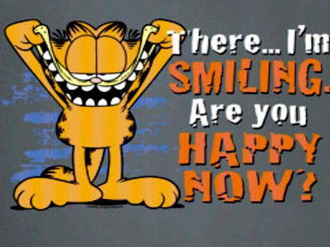 There I M Smiling Garfield Quotes Really Funny Pictures Garfield