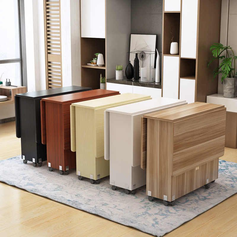 New Creative Solid Wood Folding Movable Dining Table Living Room Kitchen Stuff Storage Home Furniture Free Shipping Dining Tables Aliexpress Folding Dining Table Living Room Table Modern Dining Table