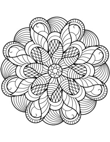 Flower Mandala Coloring Page Mandala Coloring Pages Mandala Coloring Books Mandala Printable