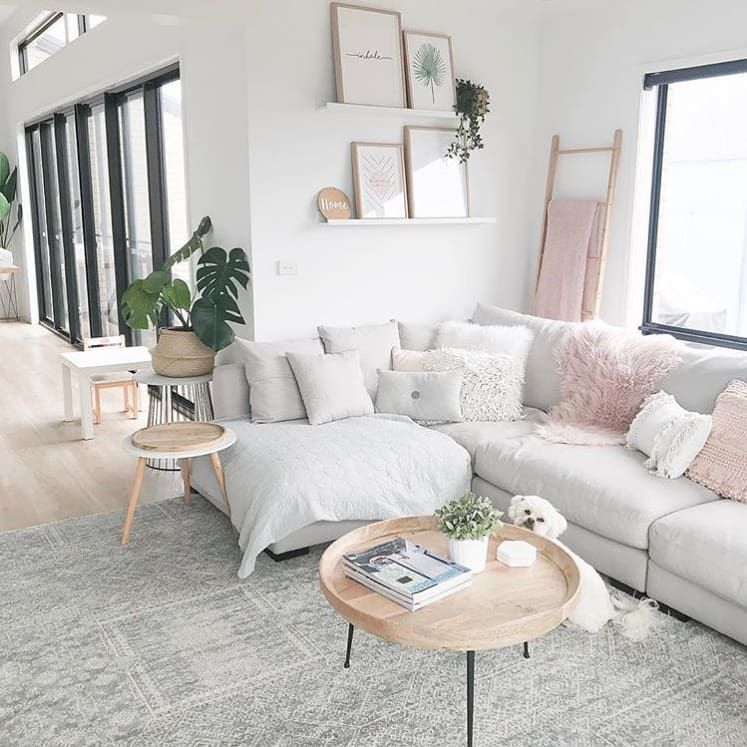 Freedom Australia On Instagram Ash Rokesky Has Put On A Styling Masterclass With Our Hamilton Sofa Keep It Coming Modern Apartment Decor Blush Pink Living Room Interior Design Living Room Warm