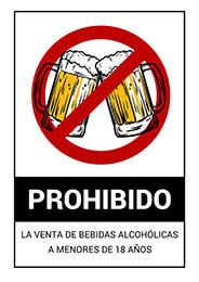 Cartel Prohibido La Venta De Bebidas Alcohólicas A Menores De 18 Años Prohibidoalcohol Hostelería Ba Cartel Carteles De Bebidas Consejos De Seguridad Vial