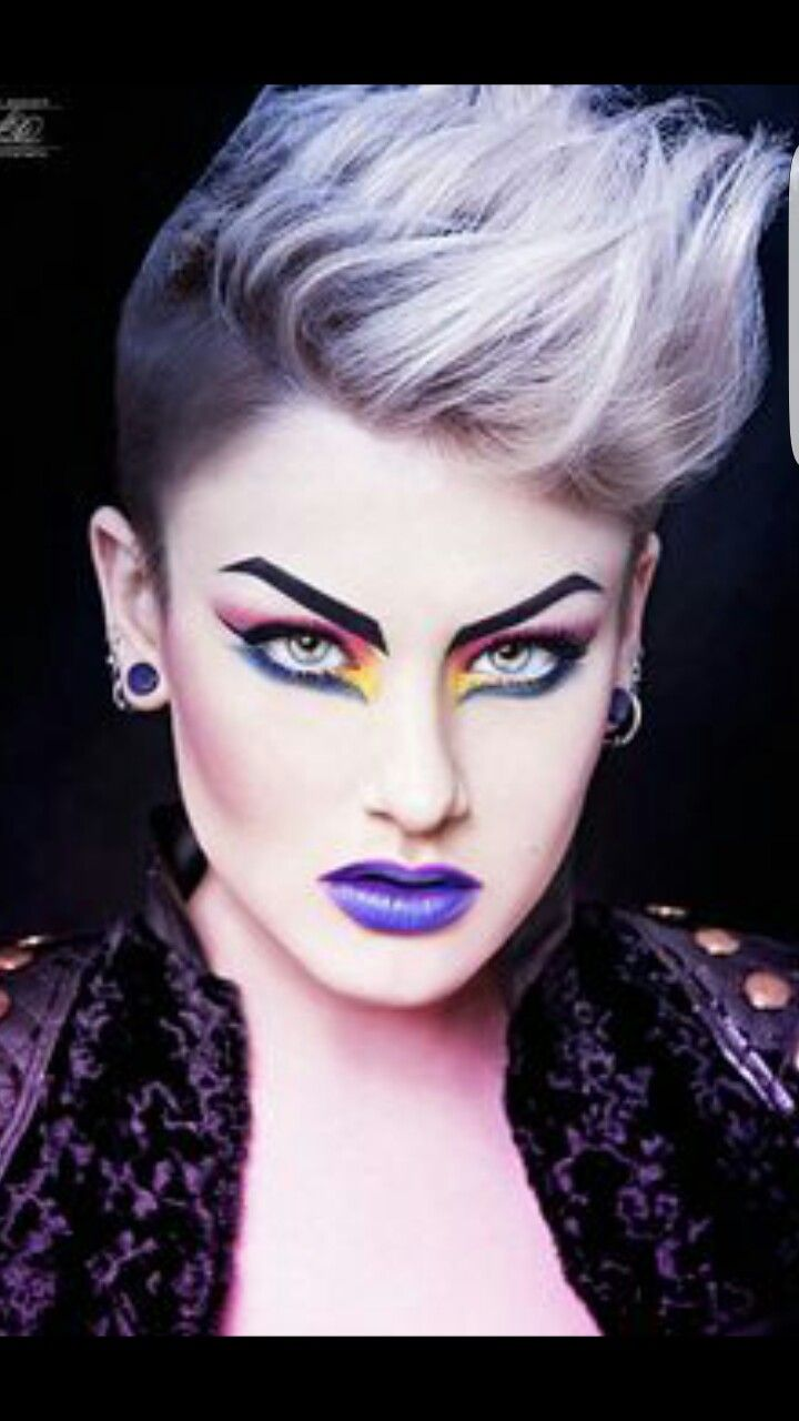 Hairstyle And Colour With Images Rock Makeup Punk Makeup