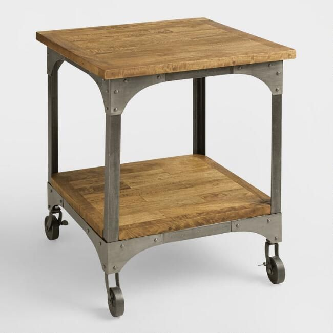 Wood And Metal Aiden End Table Side Table Gives Your Space A