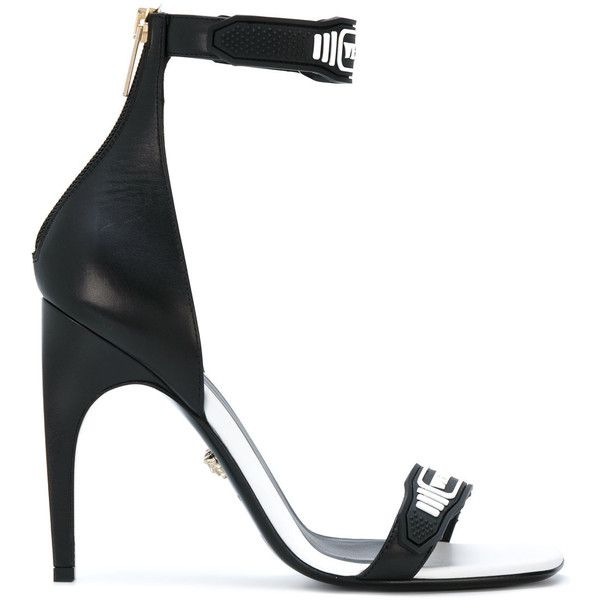 Sandales Sangle De Cheville De Collection Versace - Noir VAhA2g