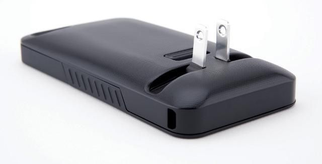 An iPhone case with a built in charger