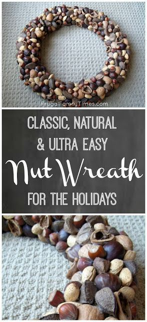 Photo of How to Make a Classic, Natural & Easy Nut Wreath for the Holidays
