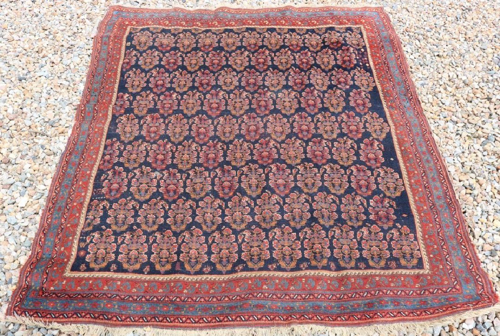 Semi Antique Persian Area Rug Unusual Floral Jun 09 2018 Marion Antique Auctions In Ma Persian Area Rugs Carpet Runner Rugs