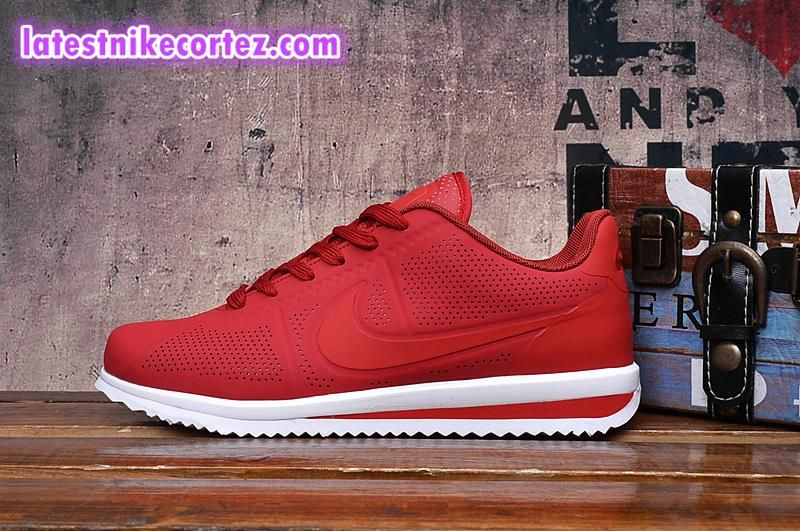 ad9f500aaecb Latest Nike Classic Cortez Ultra Moire Sneakers For Man Red White Special