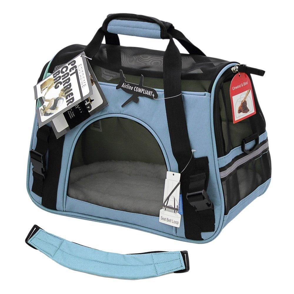 Paws And Pals Airline Approved Pet Carriers W Fleece Bed