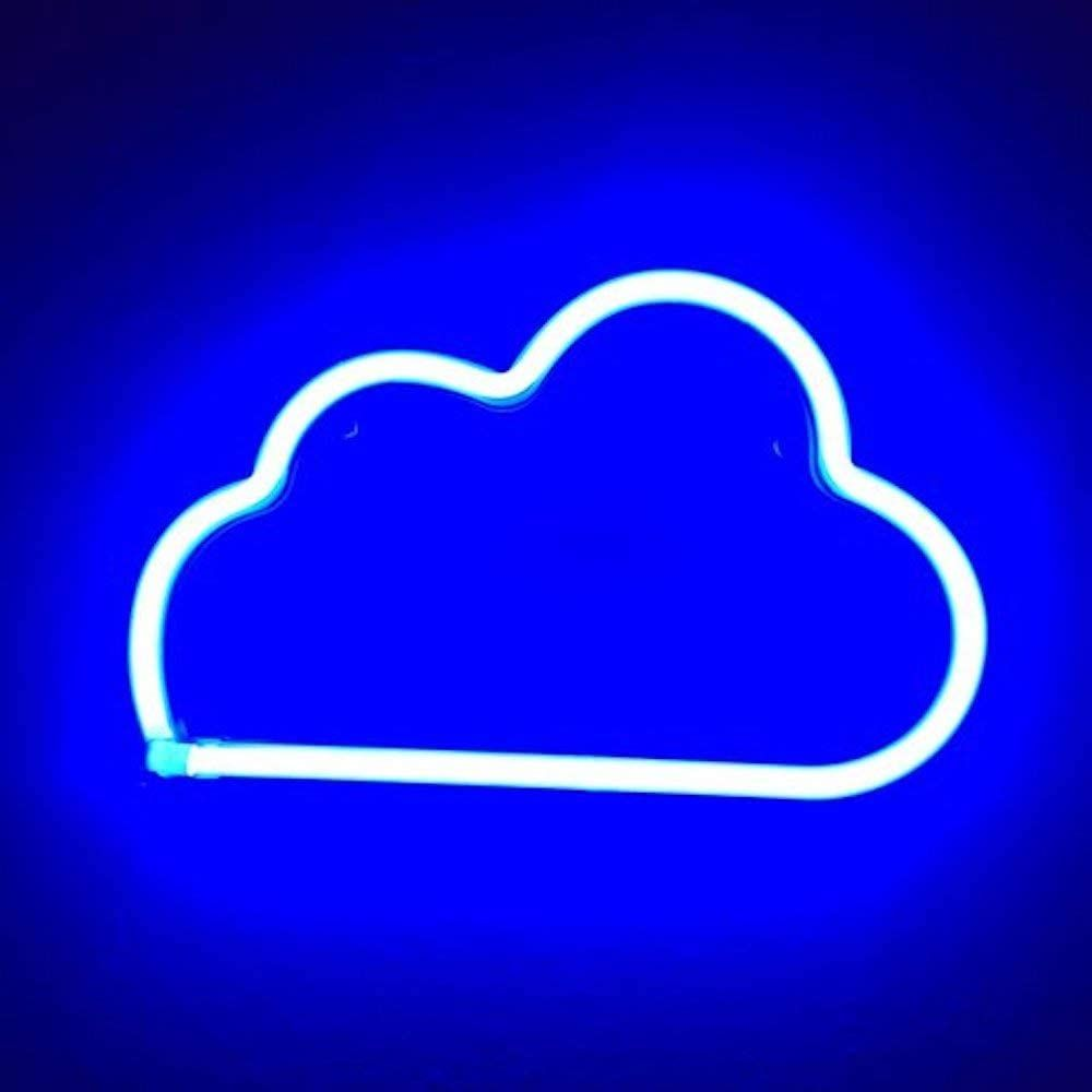 Blue Neon Cloud In 2021 Blue Neon Lights Light Blue Aesthetic Blue Aesthetic Wallpaper