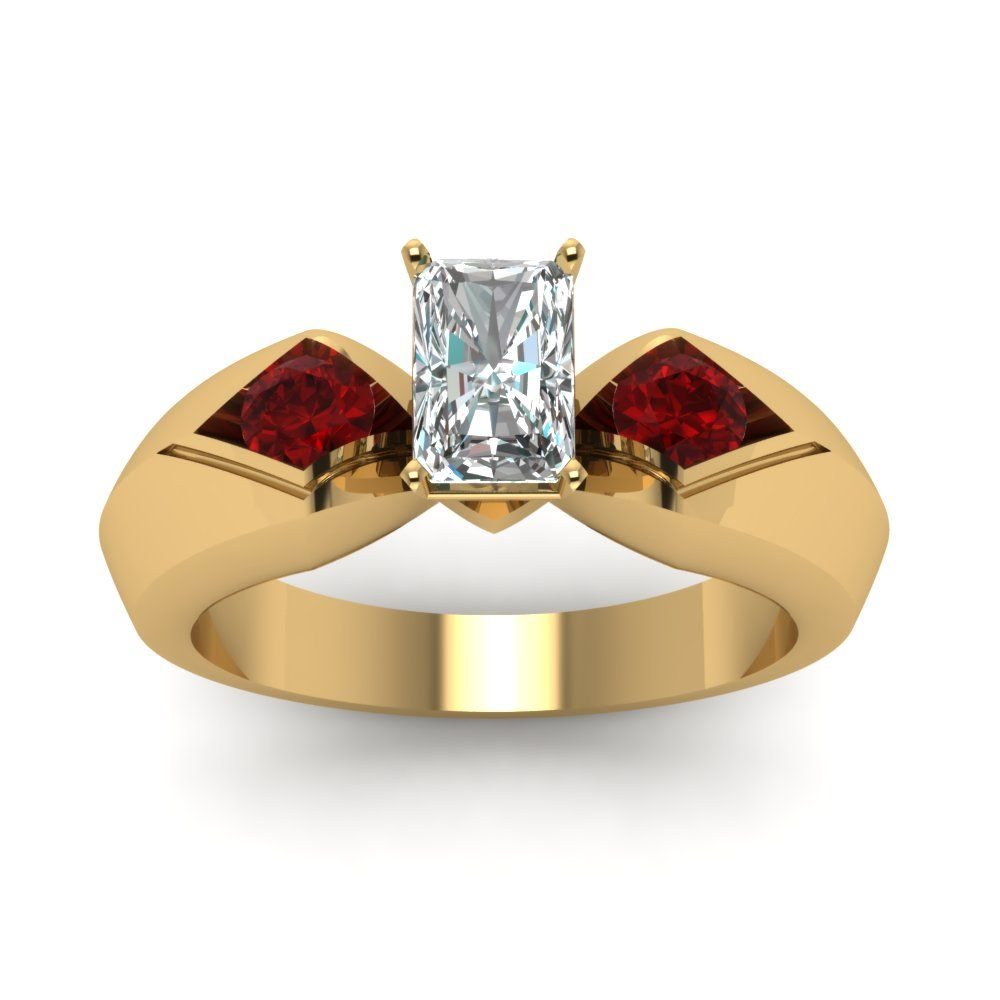 stone tension set diamond ring radiant cut radiant cut diamond