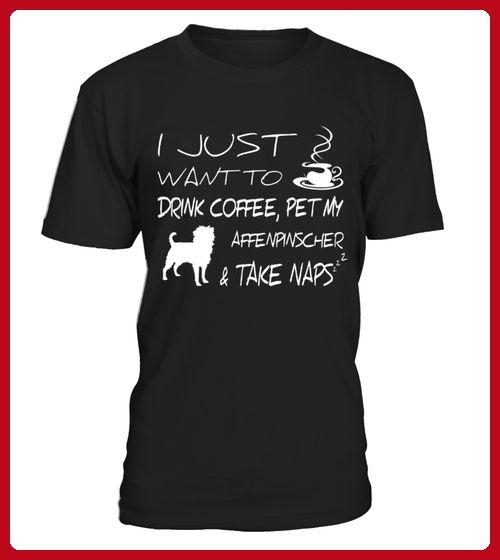 Drink coffee and pet my Affenpinscher Funny TShirt - Affen shirts (*Partner-Link)