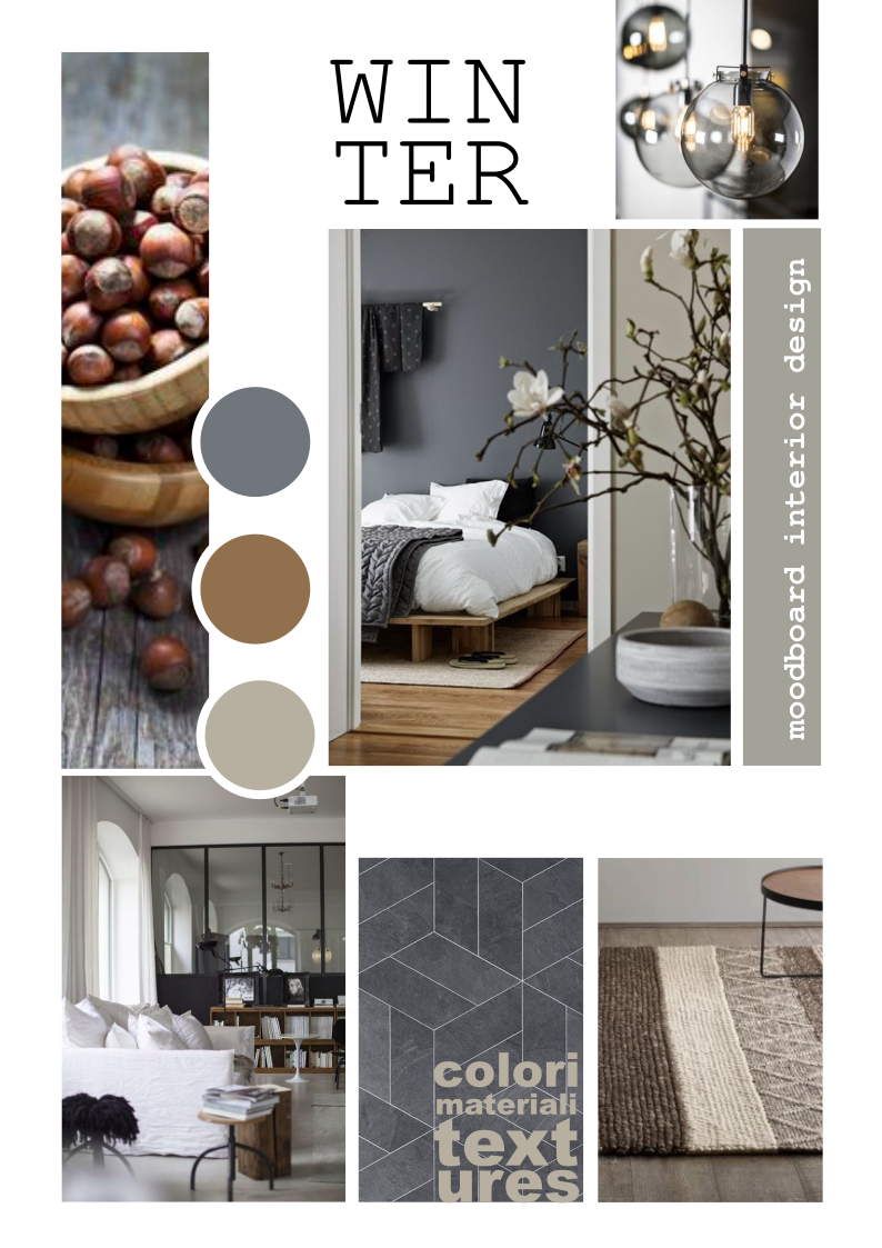 Moodboard interior design nel 2019 architettura di for Idee interior design