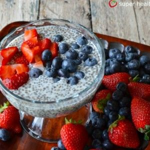 Chia Seed Champion Pudding {Healthy Dessert for Kids} How simple;  ! cup milk, 1/3 cup chia seeds, 1 T. honey you are done!!!