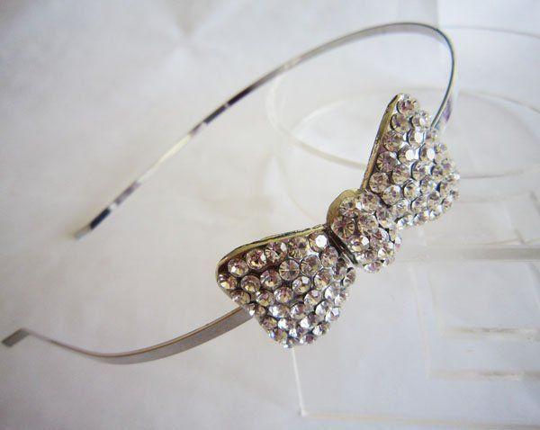 Free shipping fashion bridal hair jewellry-sweet rhinestone bow headband   5.50 cfcc49b0135