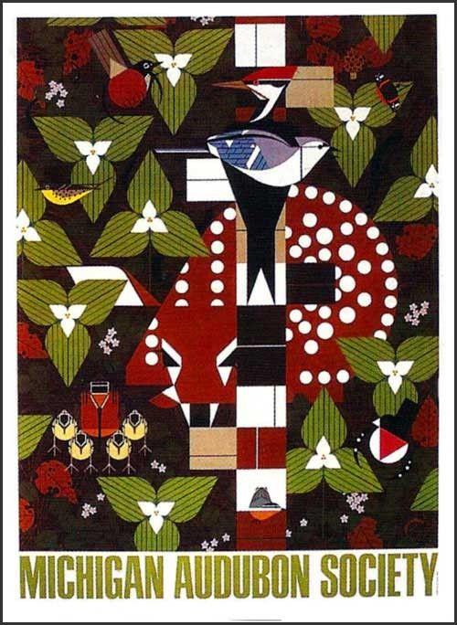 Michigan Audubon Society Poster by Charley Harper