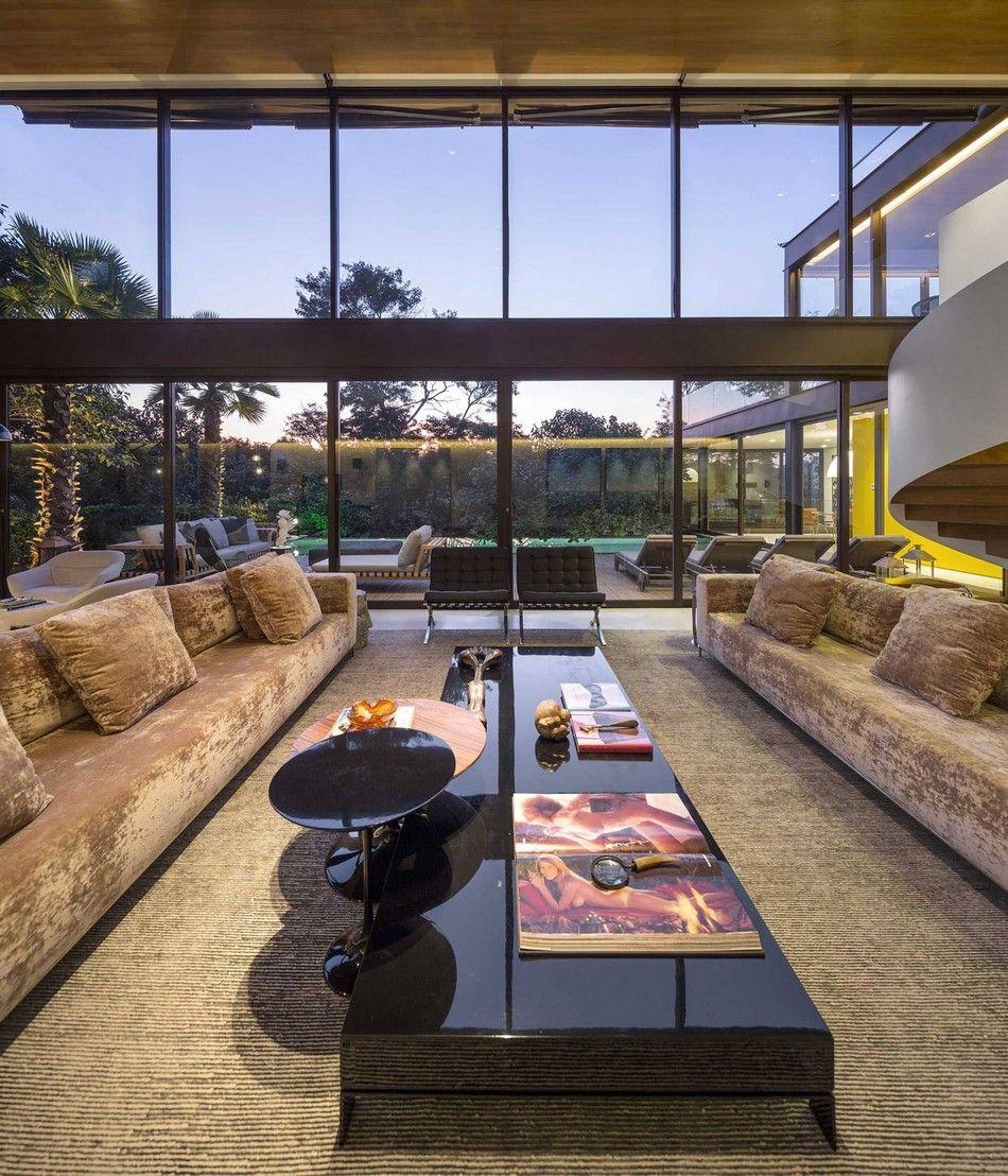 Simple geometry unveiling spectacular interiors limantos residence in são paulo