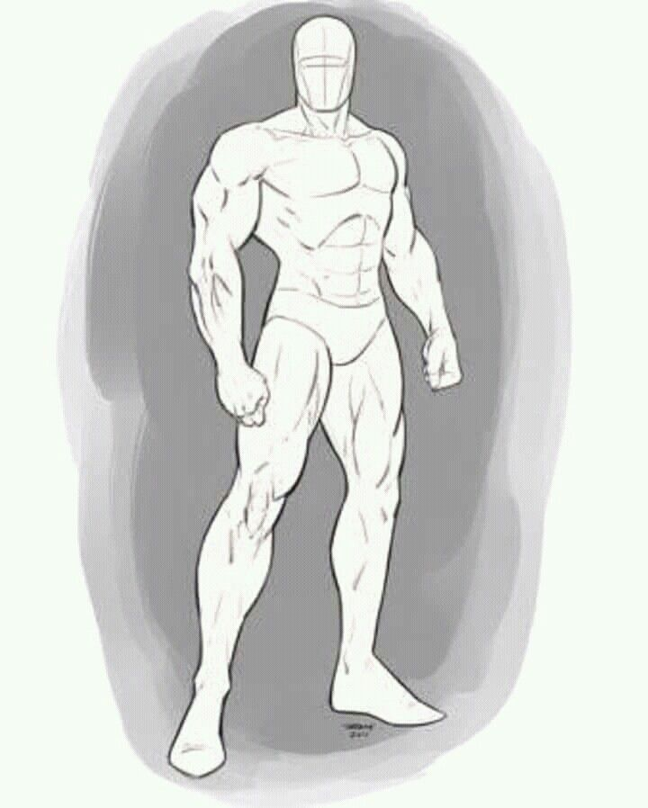 Full Body Male Muscular In 2020 Drawing Poses Male Body Pose Drawing Art Reference Poses