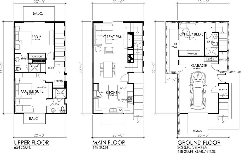 Floor Plan Image Of Nano 3 House Plans Modern Floor Plans Modern Style House Plans