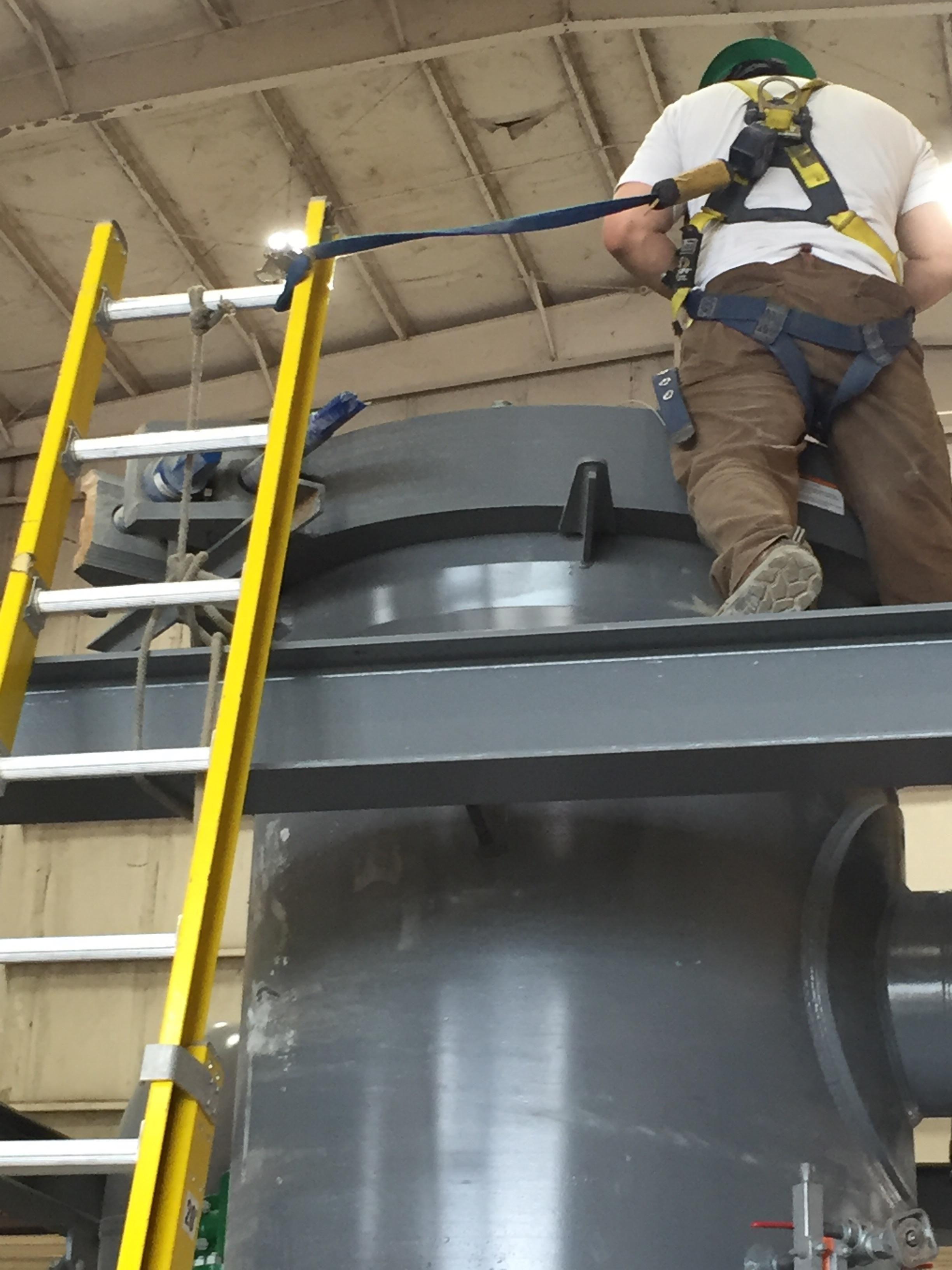 Yeah Bro Im Sure Ladder Will Hold Forklift Osha