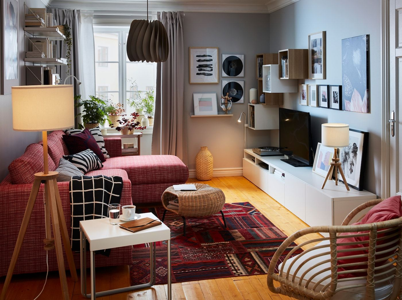 Gemutliches Und Kuscheliges Wohnzimmer Cosy Living Room Ikea Living Room Small Living Rooms