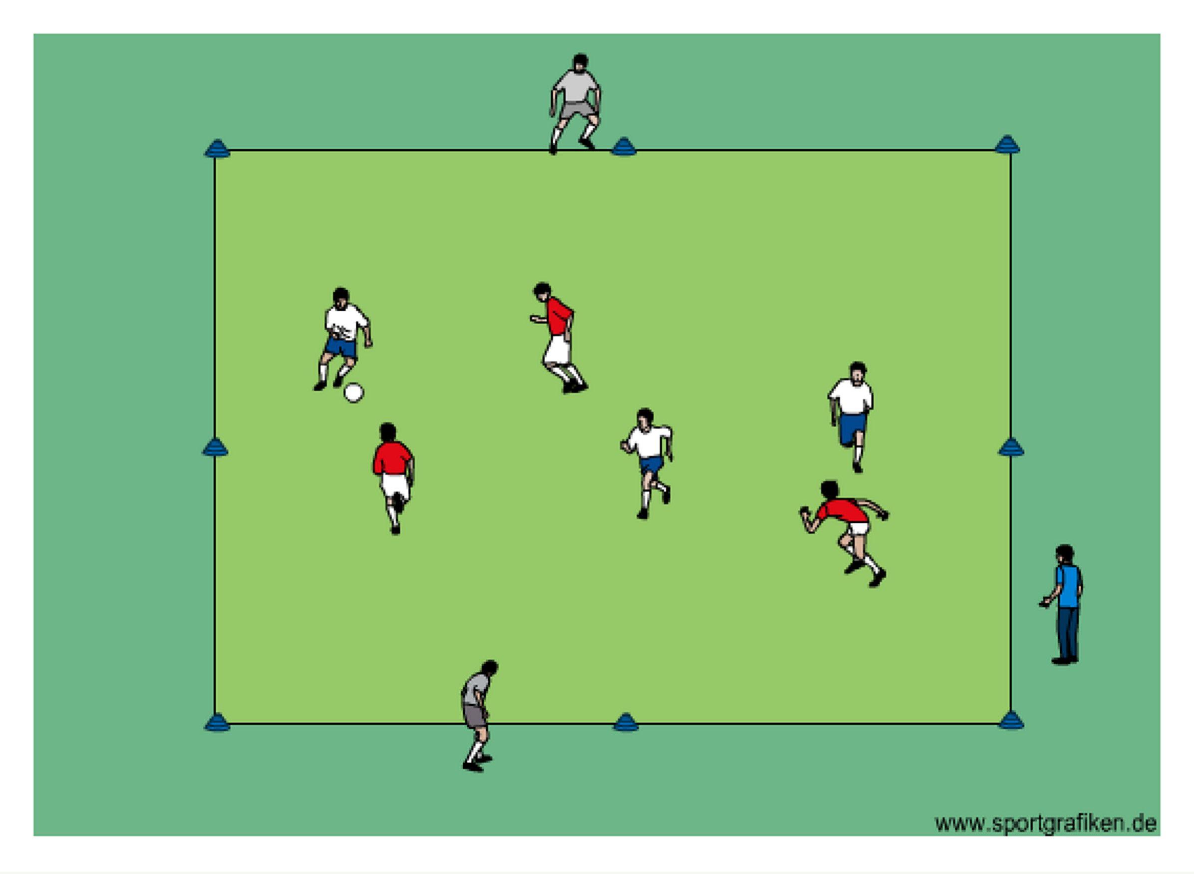 Soccer 3v3 Moving Targets Training Drill Soccer training