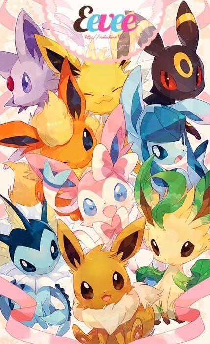 Cute Eevee Evolutions Eevee Evoloutions Pokemon