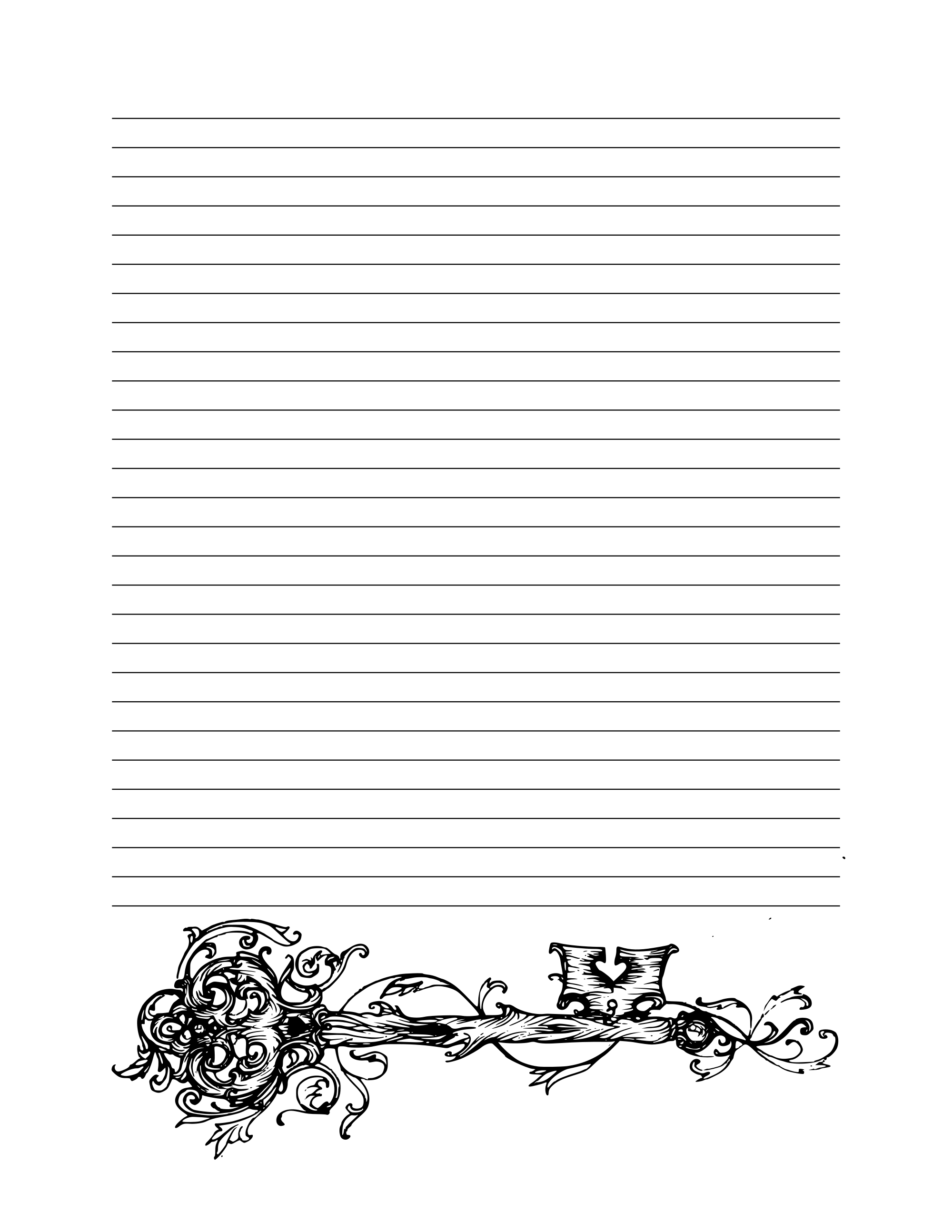 Book Of Shadows Bos Lined Page Printable Book Of Shadows Halloween Writing Letter Writing Paper