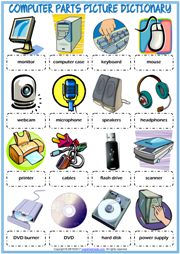 Computer Parts Picture Dictionary Esl Worksheet For Kids Computer Basics Computer Learning Teaching Computers