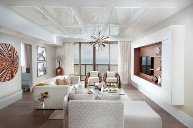modernes wohnzimmer kupfer farbakzente laminatboden | möbel, Wohnzimmer
