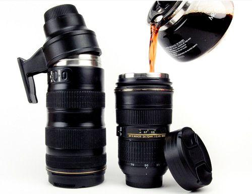 Nikon Camera Lens Mugs. Another sleek and creative design for photographers. (Image Source: Photojojo Store)