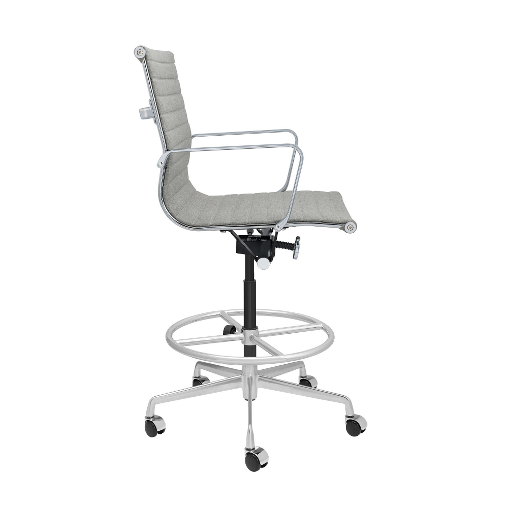 Soho Ribbed Drafting Chair Grey Fabric Drafting Chair Green Chair Chair