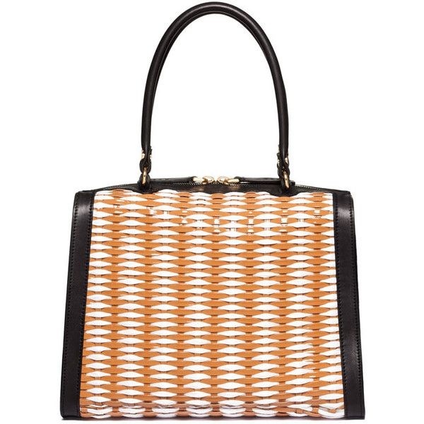Marni Releases Woven Handbag Collection for Spring/Summer 2013 ❤ liked on Polyvore