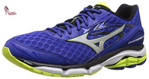 Mizuno Wave Inspire 13, Chaussures de Running Entrainement Homme, Vert (Green Gecko/Clownfish/Black), 44.5 EU