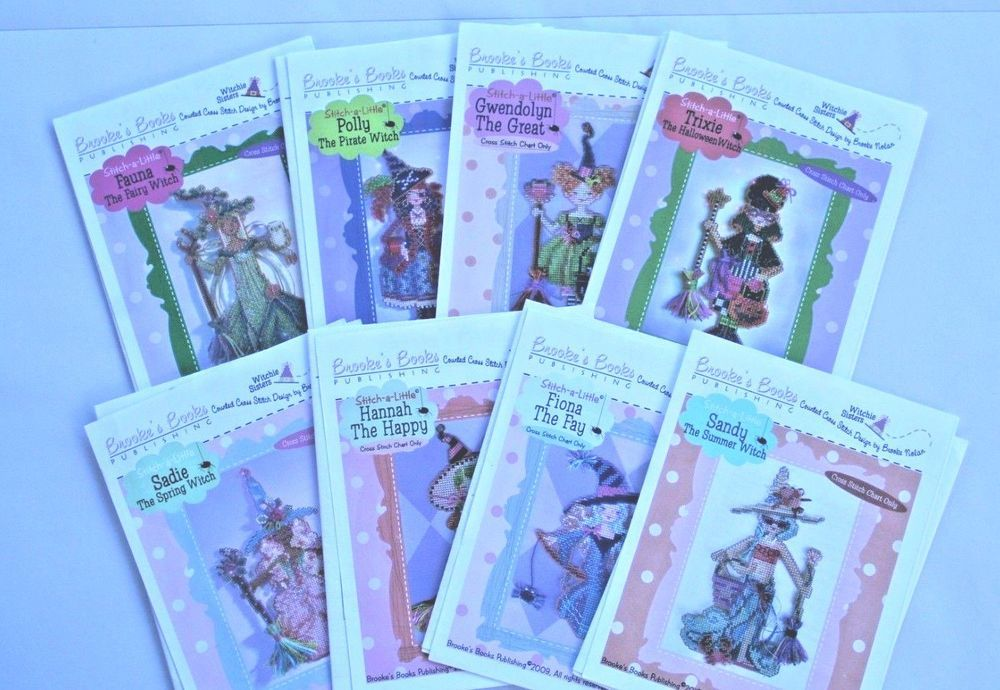 Brooke/'s Books Publishing STITCH A LITTLE Counted Cross Stitch Patterns WITCHES