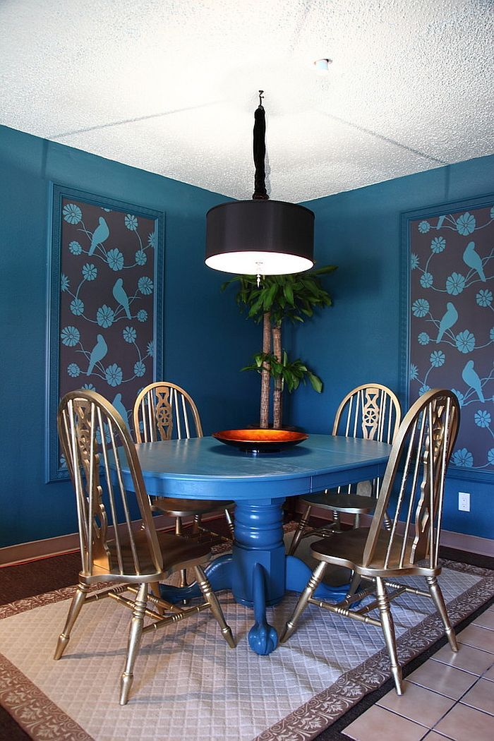 How To Decorate The Dining Room With A Dazzling Wallpaper Houzz