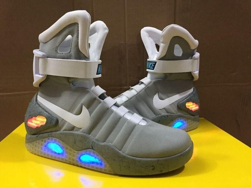 ac7d0b891f7 Online Cheap Nike Mag Glow In The Dark Gray And Black Back To The Future  Mags Limited Edition Shoes Nike Air Mag Shoes Led Mens Nike Mag Basketball  Shoes By ...