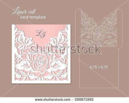 Laser cut invitation card template Wedding invitation template - invitation formats