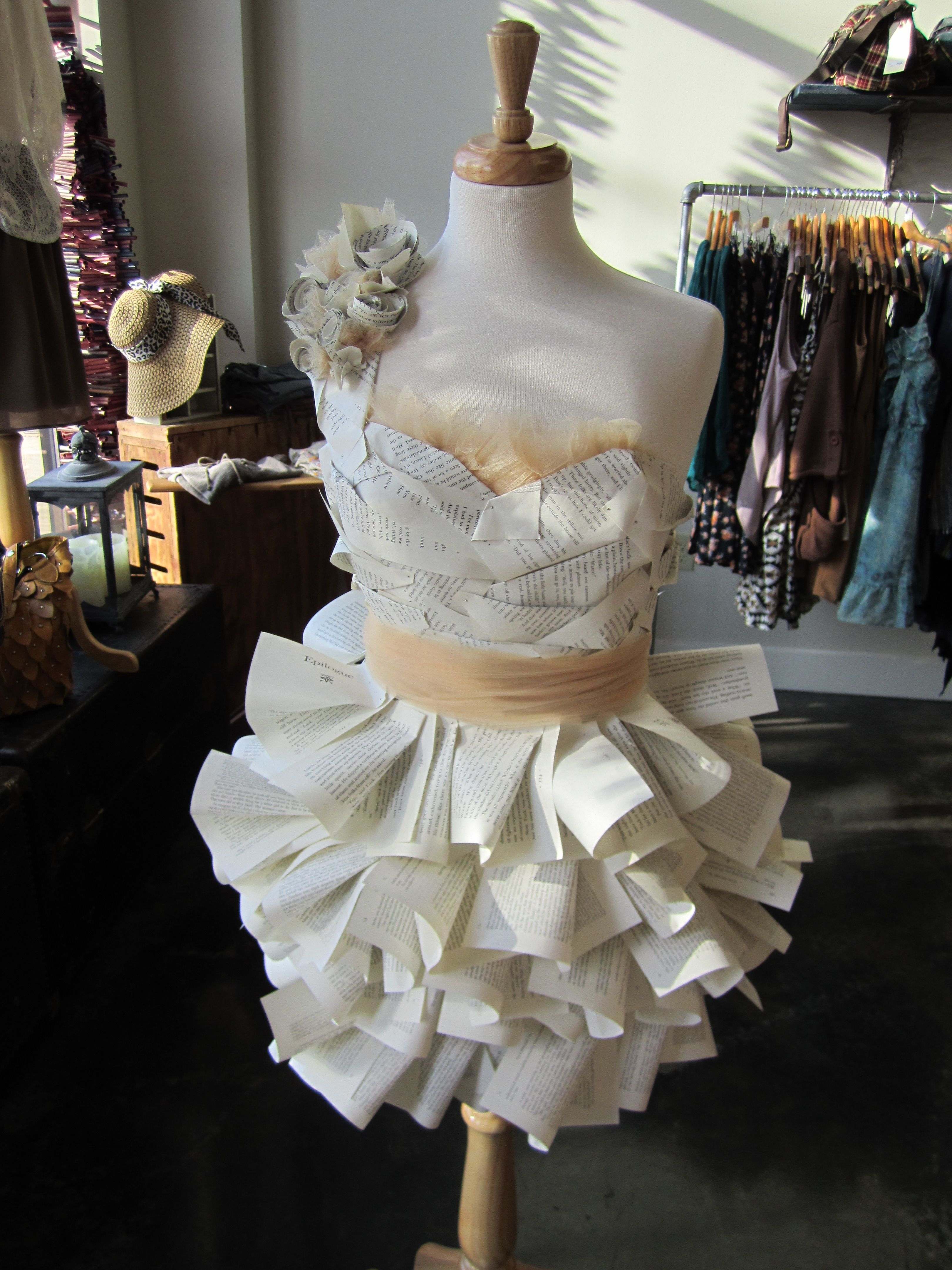 Dress out of book pages, I had so much fun making this! Cant wait to ...