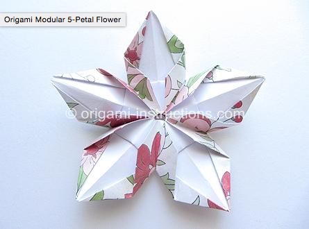 5 Petal Flower Httporigami Instructionsorigami Modular