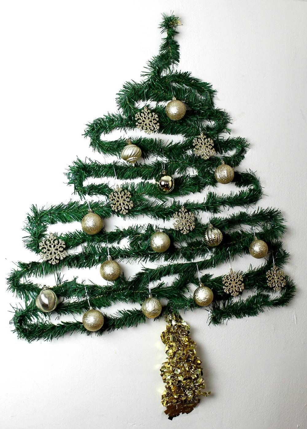 need a fun christmas tree to decorate your small space hate the mess of a