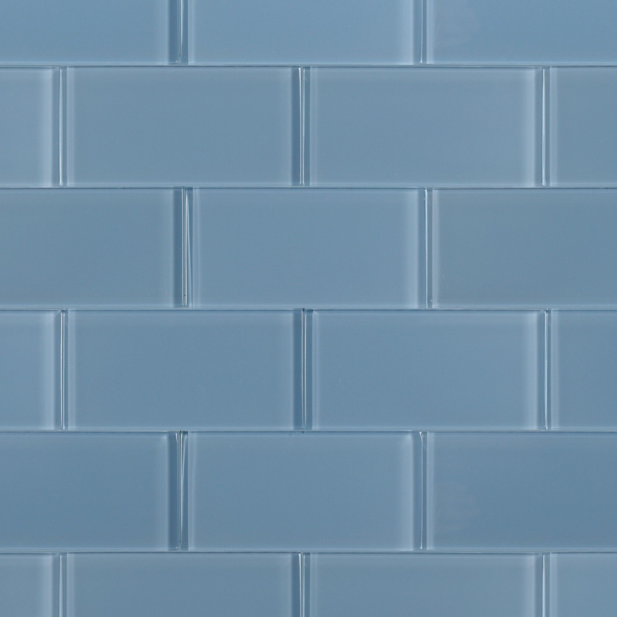 Loft Blue Gray 3x6 Polished Glass Tile | Buying / Renovating a Home ...